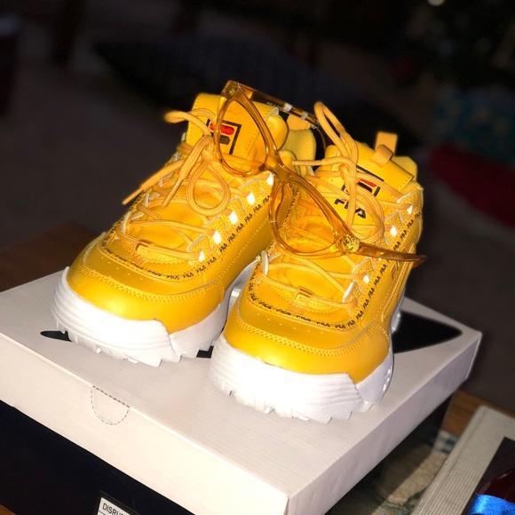 Kids Yellow Fila Tennis Shoes | Poshmark